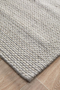 Harper Felted Wool Rug - Grey