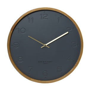 Freya Wall Clock - Charcoal