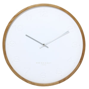 Freya Wall Clock - White