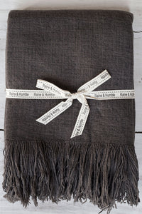 Fringed Jute Cotton Throw