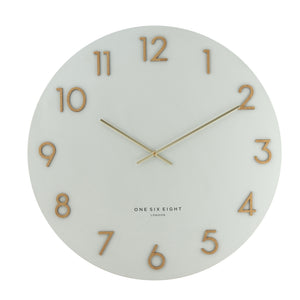 Zoe Wall Clock - White