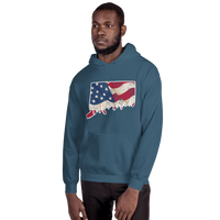 Connecticut Flag Informed Script. Unisex Hooded Sweatshirt