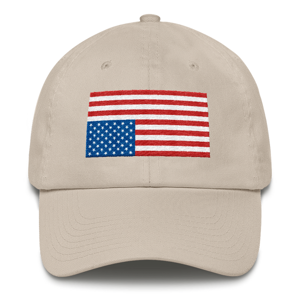 USA IN DISTRESS. Unconstructed 6 Panel Cotton Cap - Made in the USA