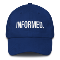 Informed. Unconstructed 6 Panel Cotton Cap - Made in the USA
