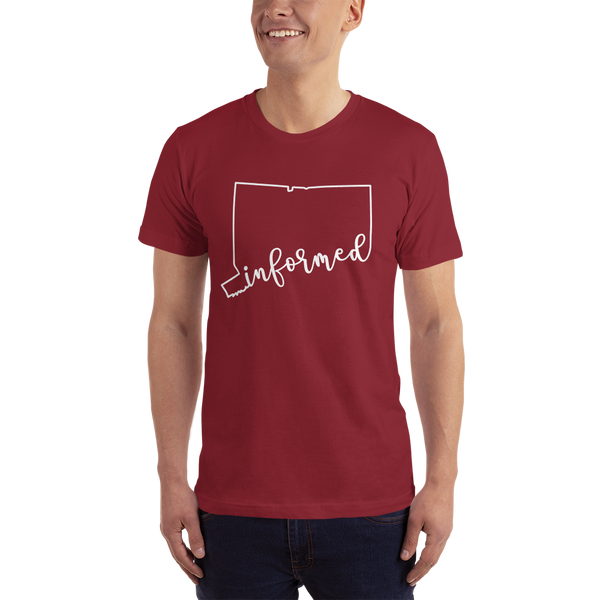 Connecticut Informed Choice Script. Unisex Short Sleeve T-Shirt - Made in the USA