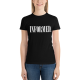Informed. Retro. Juniors Short Sleeve T-Shirt - Made in the USA