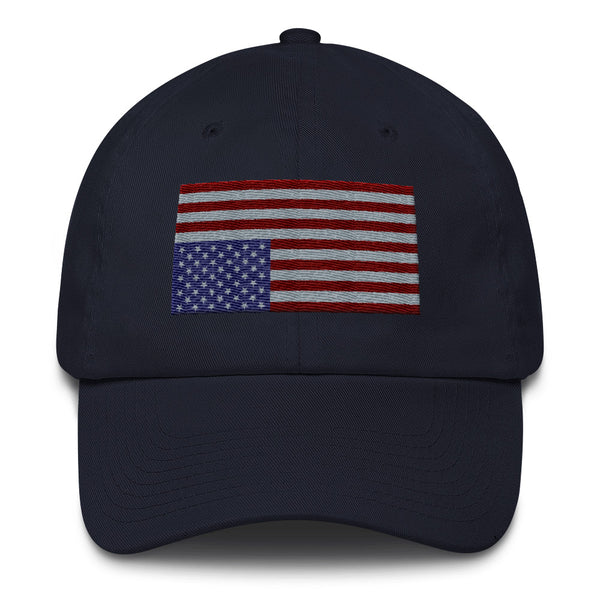 USA IN DISTRESS. Dark Flag. Unconstructed 6 Panel Cotton Cap - Made in the USA
