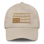 USA IN DISTRESS. Monochrome Flag. Unconstructed 6 Panel Cotton Cap - Made in the USA