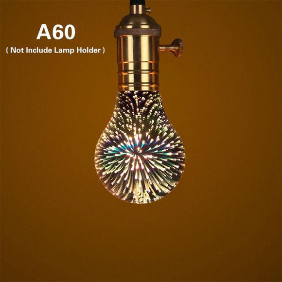 3D Fireworks Effect LED Bulb