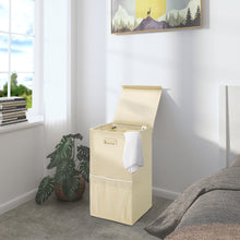 Load image into Gallery viewer, Greenstell Foldable Laundry Hamper With Lid and Oval Handles