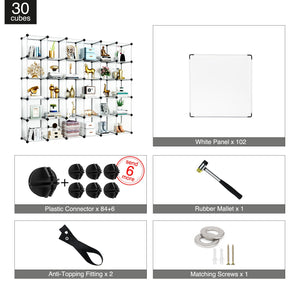 Greenstell DIY Cube Storage 30 Cubes White