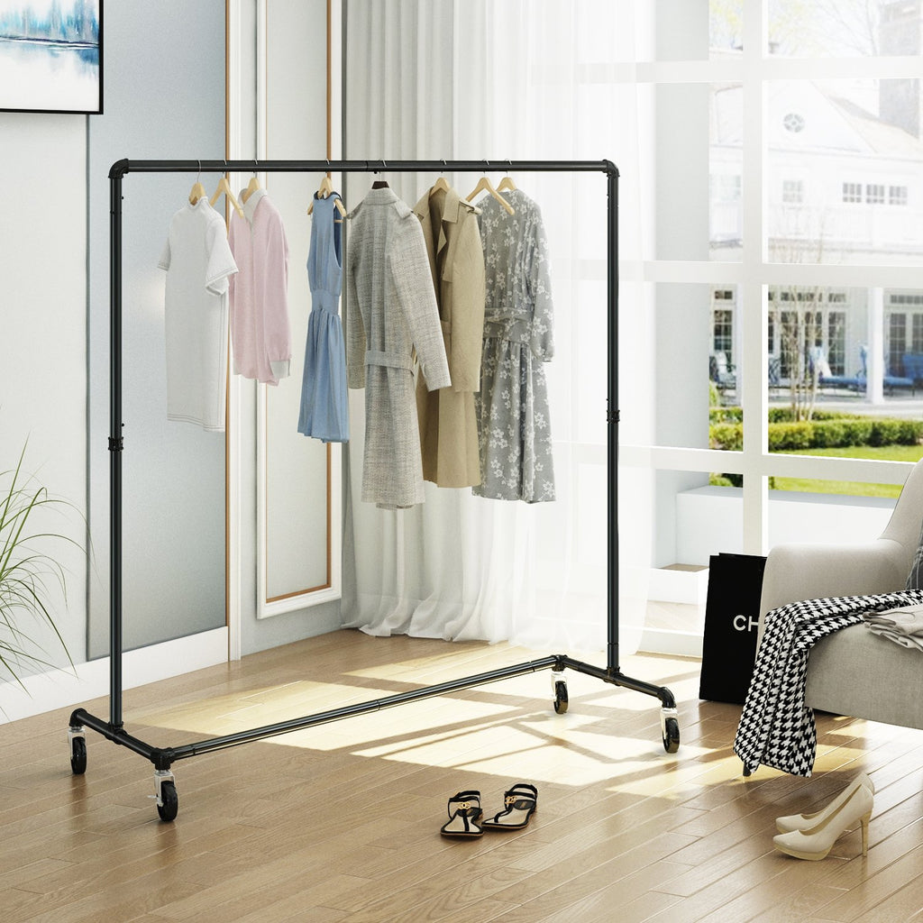 Greenstell Heavy Duty Rolling Industrial Pipe Clothes Rack (24*63*59 in)