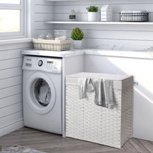 Load image into Gallery viewer, Greenstell Handwoven Synthetic Rattan Laundry Hamper Standard (18*12*24 in)