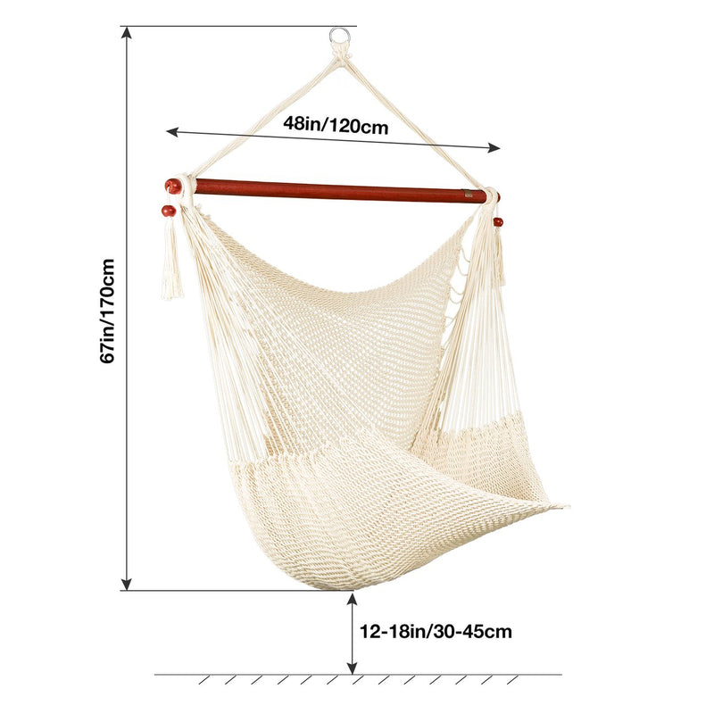 Greenstell Caribbean Hammock Hanging Chair, Swing Swivel 48 Inches