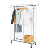 Greenstell Extendable Hanging Rail Rolling Clothes Rack with PVC Cover large