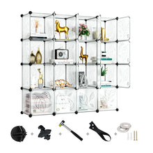 Load image into Gallery viewer, Greenstell DIY Cube Storage 16 Cubes White With Doors