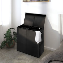 Load image into Gallery viewer, Greenstell Double Collapsible Laundry Hamper With Lid and Mesh Bag