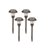 Greenstell Stainless Steel Solar Garden Pathway LED Light 4 Packs