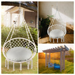 Greenstell Handmade Macrame Swing Chair Hammock Chair Standard (32*24inch)