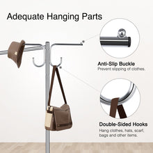 Load image into Gallery viewer, Greenstell Rolling Z Base Garment Rack with Brake and Hooks (24*68*59 in)
