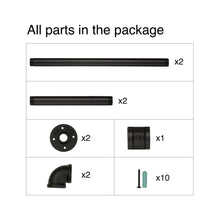 Load image into Gallery viewer, Greenstell Industrial Pipe Space Saving Clothes Rack Short (36*10 in)