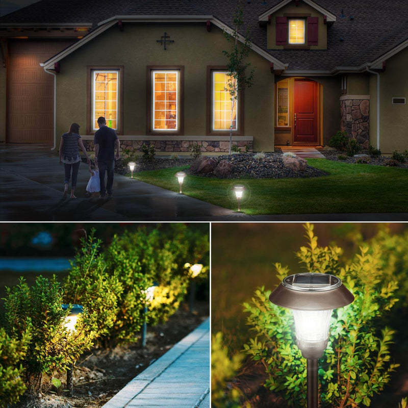 Greenstell solar landscape light brightens the night