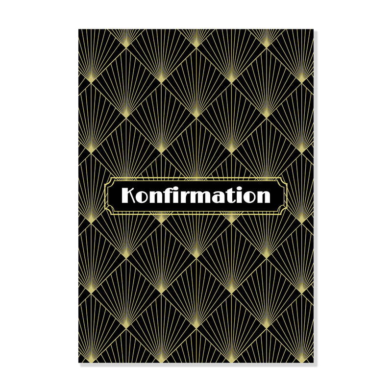 Art Deco - Invitation til Konfirmation