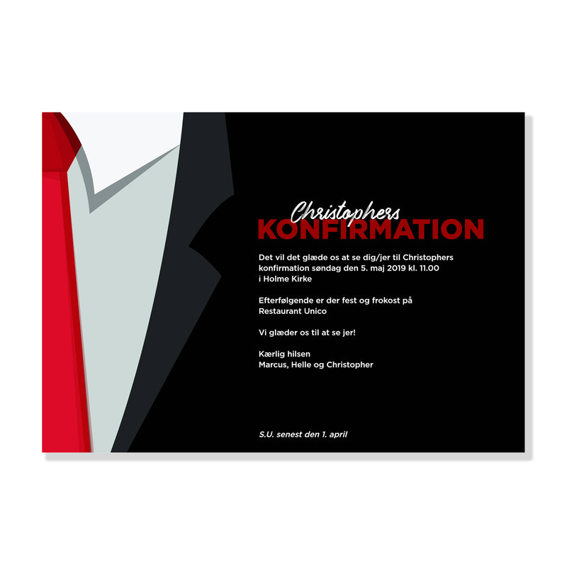 Tie up! - Invitation til Konfirmation