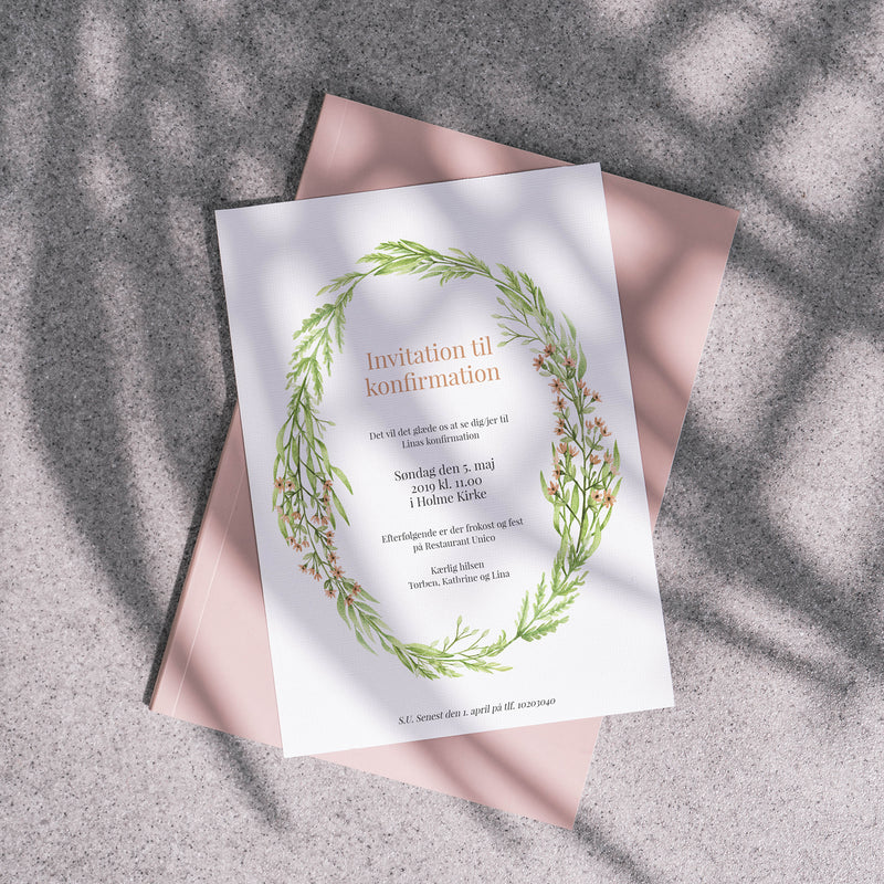 Summer Vibes II - Invitation til Konfirmation
