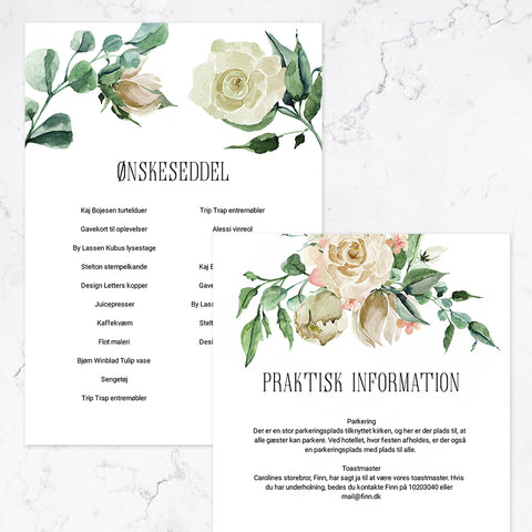 White Rose - Bundle - Konfirmation