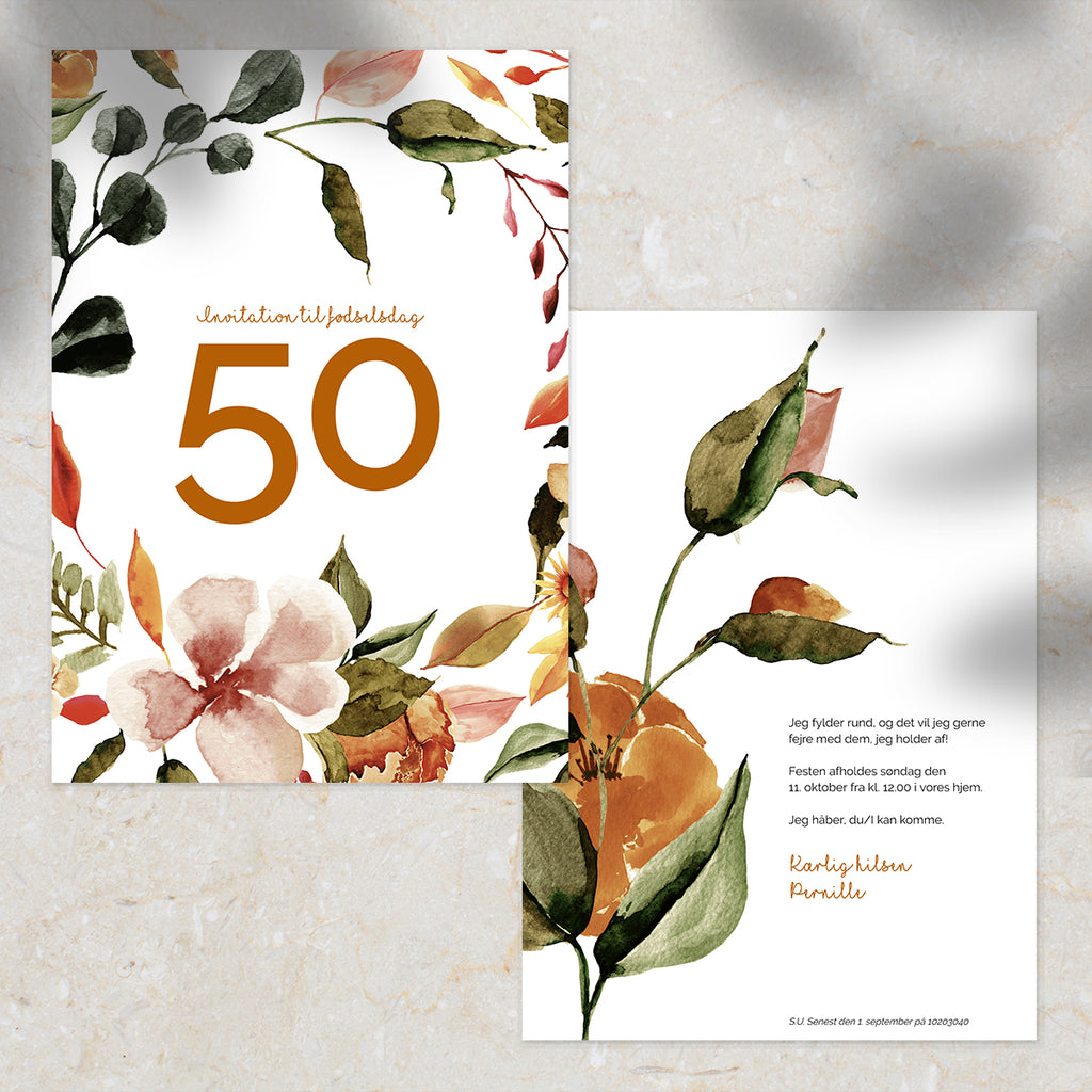 Fall in Love - Invitation til Fødselsdag