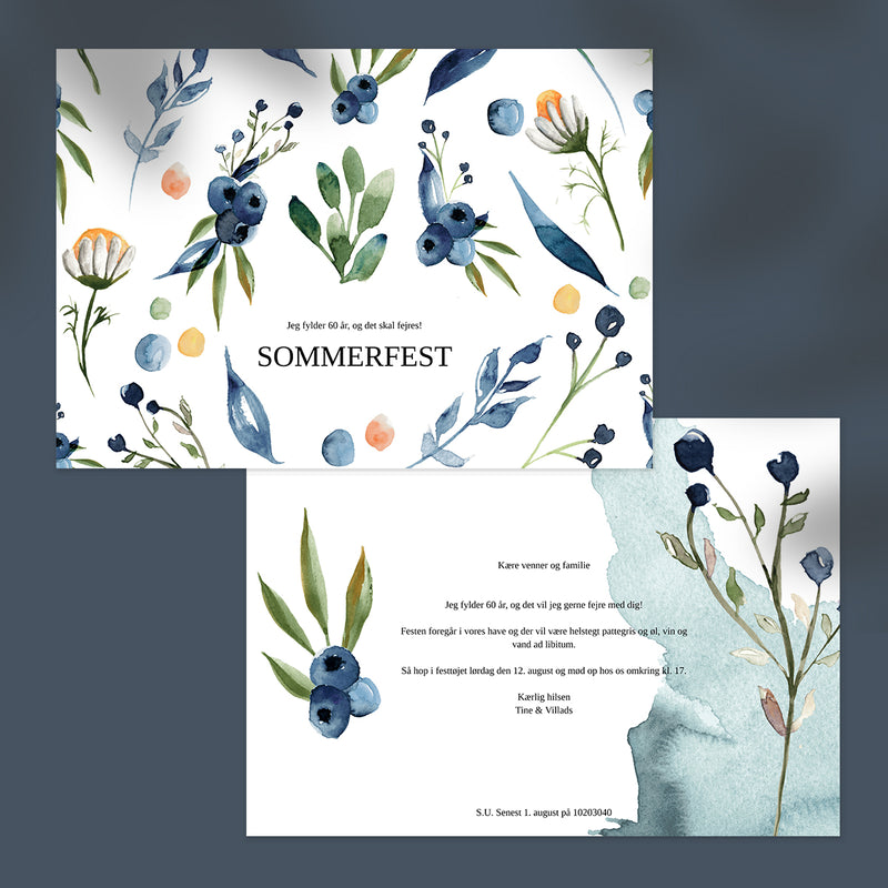 Blueberry - Invitation til Fødselsdag
