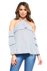 Women's Stripe Layer Halter Top