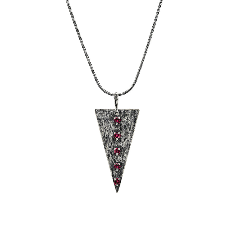Odin Red Silver Necklace, Large