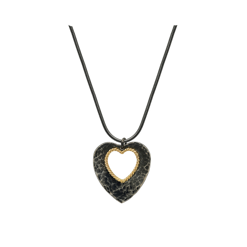 silver heart pendant necklace women