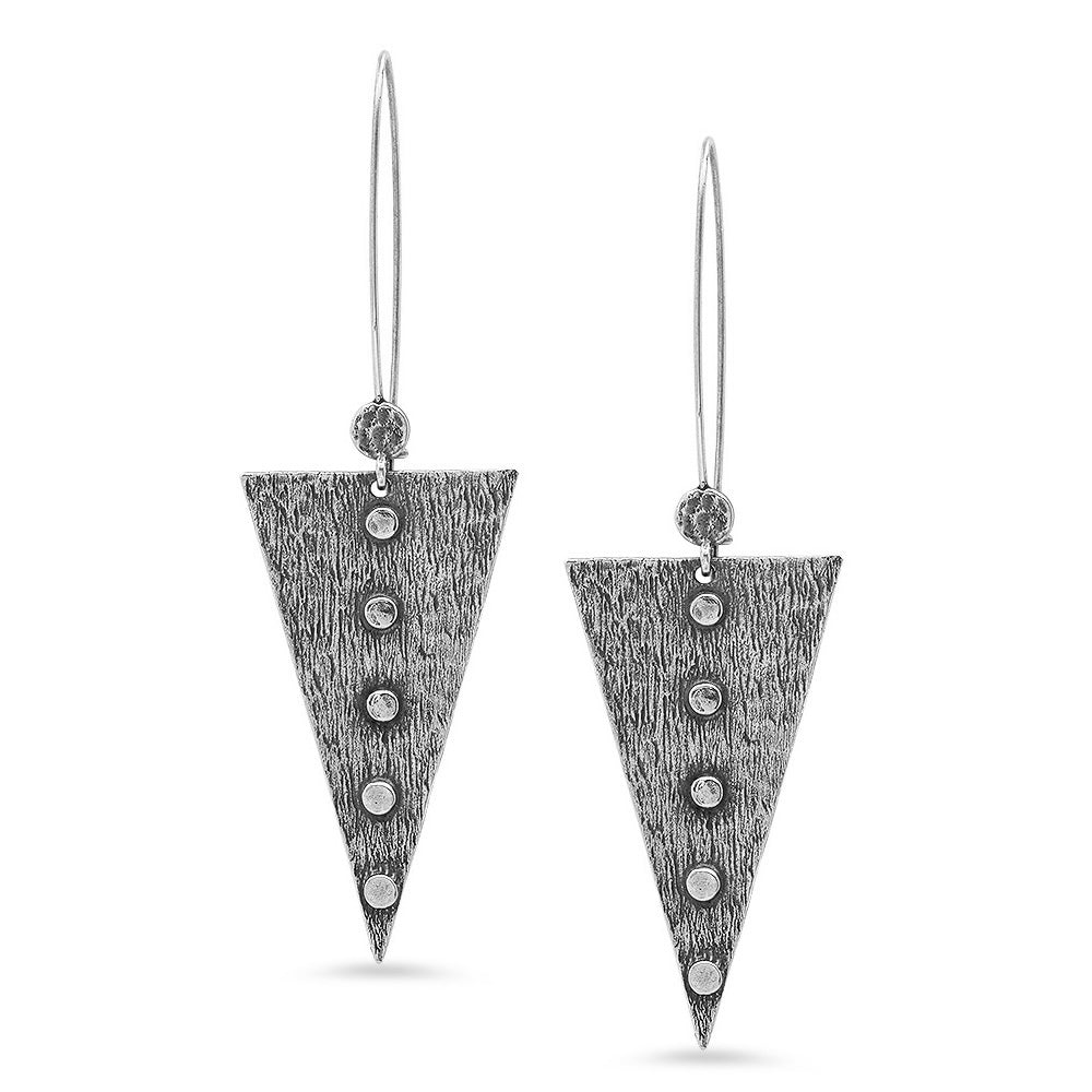 silver odin earrings