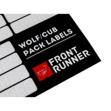 Front Runner Camp Organising Labels for Wolf/Cub Pack