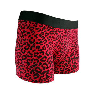 FANCIES Boxer Briefs Red Leopards - Set of 3