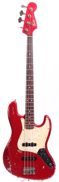 1990s Matsushita Seen Fender Jazz Bass 62 Reissue Replica candy apple red
