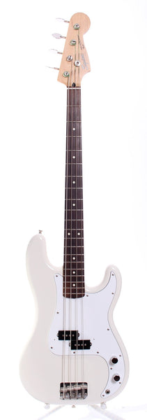 1993 Squier by Fender Japan Precision Bass olympic white