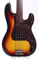 2006 Fender Precision Bass 62 Reissue sunburst fretless