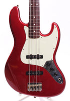 1983 Squier Jazz Bass 62 Reissue candy apple red