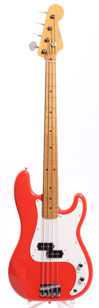 1996 Fender Precision Bass 57 Reissue fiesta red