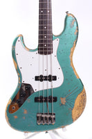 1999 Fender Jazz Bass 62 Reissue LEFTY ocean turquoise metallic