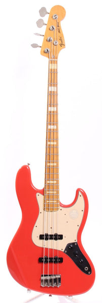 1998 Fender Jazz Bass 75 Reissue fiesta red