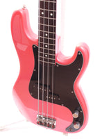 1985 Squier Precision Bass 62 Reissue Medium Scale all metallic pink