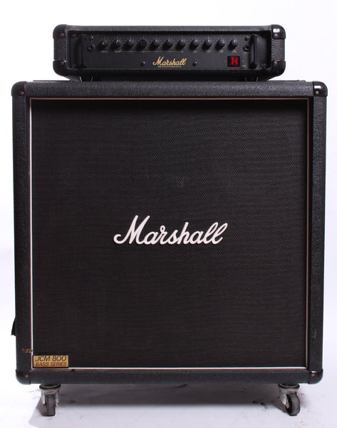 1980s Marshall 3520 Bass Head with 1510 JCM800 cabinet