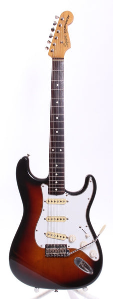 1983 SQUIER BY FENDER '62 REISSUE STRATOCASTER JV SERIES SUNBURST