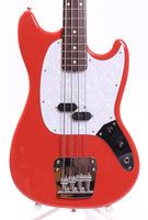 2009 Fender Mustang Bass 66 Reissue fiesta red