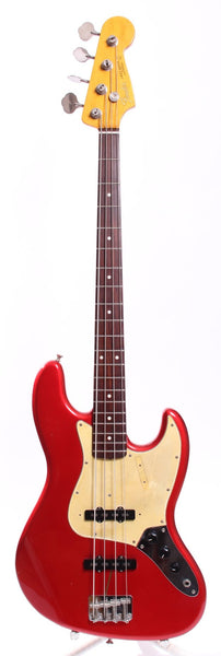 1999 Fender Jazz Bass 62 Reissue candy apple red